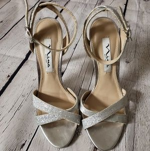 Nina New York Silver Sandals